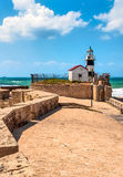 Israel, the old lighthouse in Acre. Acre, an ancient city on the Mediterranean coast, in northern Israel Royalty Free Stock Photos