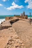 Israel, the old lighthouse in Acre. Acre, an ancient city on the Mediterranean coast, in northern Israel Royalty Free Stock Images