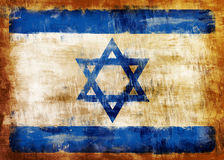 Israel old painted flag Stock Photography