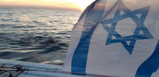 Israel team in the english channel royalty free stock photos