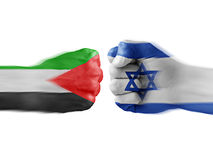 Israel x Palestine. Israel and Palestine - boxing fists Royalty Free Stock Photo