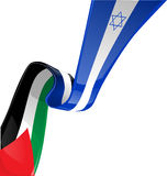 Israel and palestine flag Royalty Free Stock Photography