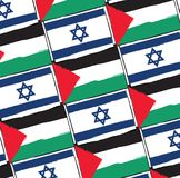 ISRAEL and PALESTINE flags or banner illustration. ISRAEL and PALESTINE flags or banner vector illustration Royalty Free Stock Images