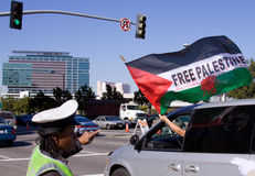 Israel Palestinian protest Royalty Free Stock Photo