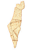 Israel Passover map Royalty Free Stock Photography