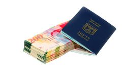 Israel Passport Stock Images