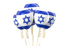 Israel patriotic balloons, holyday concept Royalty Free Stock Photos