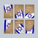 Israel Patriotic Cards para o dia nacional ilustração royalty free