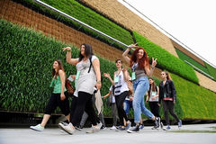 Israel pavilion at Expo Milano 2015. MILAN, ITALY - MAY 13: Students visiting Israel pavilion at Expo Milano 2015 universal exposition on the theme Feeding the Royalty Free Stock Photography
