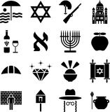 Israel pictograms. Some pictograms representing Israel and ints traditions Stock Images