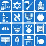 Israel pictograms. Some pictograms representing Israel and ints traditions Stock Photography