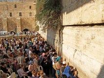Israel. Pilgrims at the Wailing Wall in Jerusalem Royalty Free Stock Image
