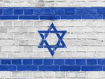 Israel Politics Concept : Mur israélien de drapeau image stock