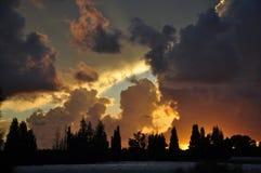 Israel, por do sol do sol Imagem de Stock Royalty Free