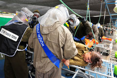Israel Prepares para Rocket Attacks biológico e químico Fotos de Stock Royalty Free
