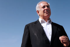 Israel Prime Minister - Benjamin Netanyahu Fotografia de Stock Royalty Free