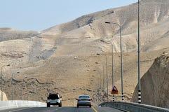 israel pustynna droga Obrazy Royalty Free