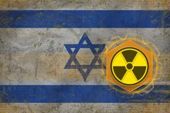 Israel radioactive threat. Radiation hazard concept. Stock Photography