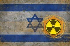 Israel radioaktivt hot Begrepp för utstrålningsfara Arkivbild