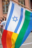 Israel Rainbow Flag Royalty Free Stock Photography