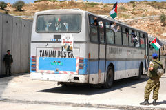 Israel releases 255 Palestinian prisoners stock photo