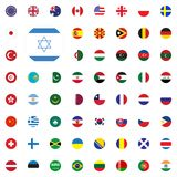 Israel round flag icon. Round World Flags Vector illustration Icons Set. Israel round flag icon. Round World Flags Vector illustration Icons Set Royalty Free Stock Photography
