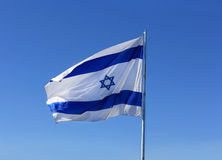 Israel's national flag Stock Photo