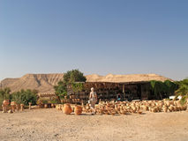 Israel. Sale of pottery in the Judaic desert Royalty Free Stock Photo