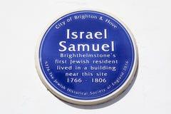 Israel Samuel Blue Plaque in Brighton stock foto's