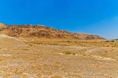 Israel sandstone desert landscape Royalty Free Stock Image