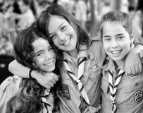 Israel Scouts in Black and White royalty free stock photos