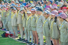 Israel Scouts in a yearly graduation ceremony Royalty Free Stock Photos