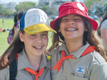 Israel Scouts in a yearly graduation ceremony Royalty Free Stock Image