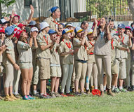 Israel Scouts in a yearly graduation ceremony Stock Photography