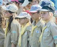 Israel Scouts in a yearly graduation ceremony Royalty Free Stock Photography