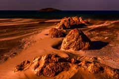 Israel Shore of the Mediterranean Sea Royalty Free Stock Photo