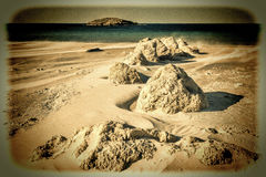 Israel Shore of the Mediterranean Sea Royalty Free Stock Images