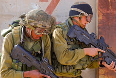 Israel Soldiers. Two israeli soldiers with Tavor guns Royalty Free Stock Photo