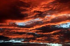 israel solnedgång arkivfoto