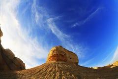 israel solnedgång Arkivbild