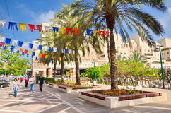 Israel steet on Independence Day Royalty Free Stock Images