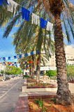 Israel steet on Independence Day Royalty Free Stock Photography