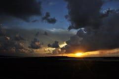 Israel, sun sunset Stock Photography