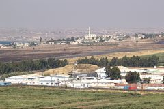 Israel and Syria border Stock Photo