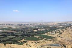 Israel Syria Border from Mount Bental, Golan Royalty Free Stock Image
