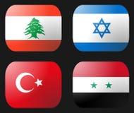 Israel Syria Lebanon bandery indyk Obraz Royalty Free