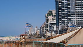 Israel Tel Aviv. The second largest in Israel 432 892 people by 2016, the country`s economic and cultural center. It was formed in April 1950 by the merger of stock image