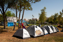 Israel Tent City Royalty Free Stock Photography