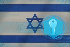 Israel tillträdestangent Nätverkssäkerhetsbegrepp Royaltyfria Bilder