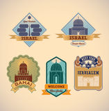Israel tour labels Stock Image